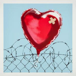 banksy art for sale love hurts