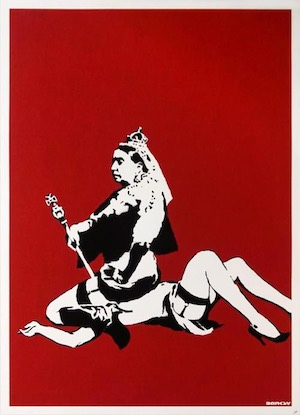 banksy original for sale queen victoria