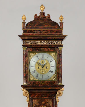 francis gregg russell street covent garden a fine queen anne period faux tortoiseshell chinoiserie lacquer longcase clock