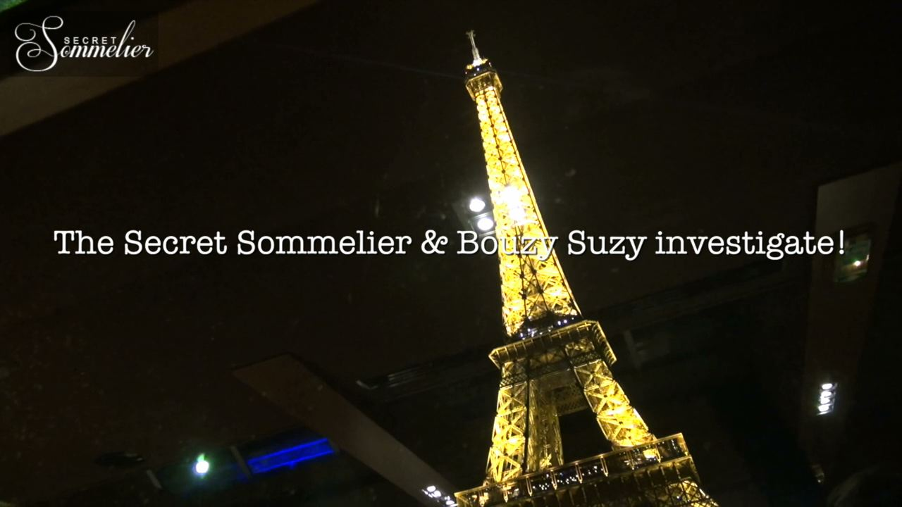 Secret Sommelier and Bouzy Suzy on the Seine in Paris tasing Bouzy Champagne