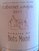 Rose cabernet d'Anjou, Domaine de Bois Moze, 2011
