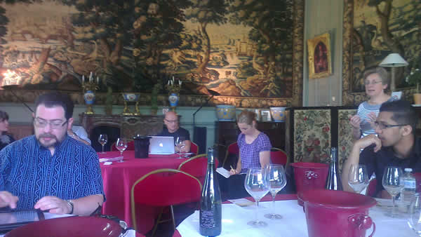Tasting at the Chateau