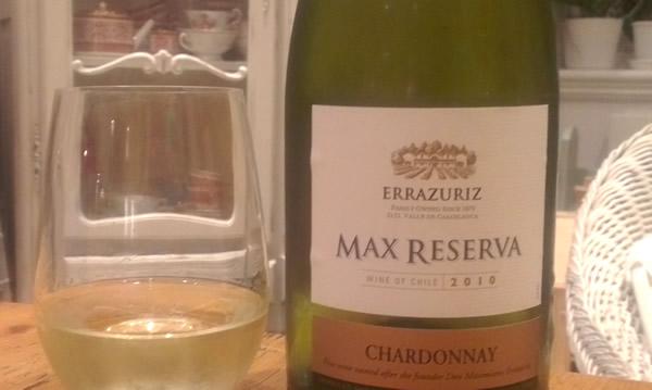Errazuriz Max reserva Chardonnay 2010 Chilean