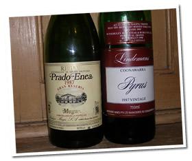 Muga Rioja v's Coonawarra Pyrus '87