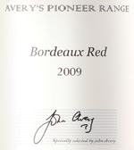 Averys Pioneer Bordeaux 2009