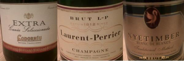 Champagne blind tasting