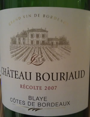 Chateau Bourjaud 2007 Blaye Cotes de Bordeaux