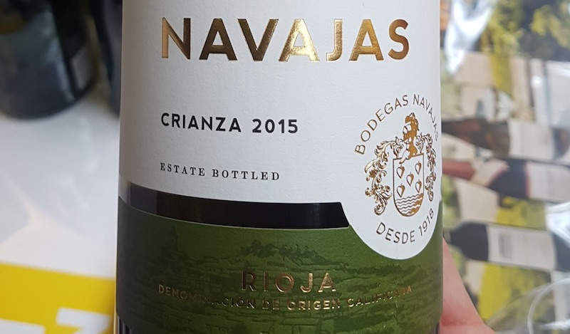 Navajas white Rioja wine society